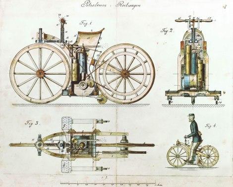 Daimler_Reitwagen_color_drawing_1885_DE_patent_36423