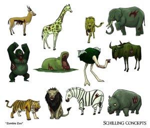 commission__zombie_zoo_animals_by_schillingart-d5vivdt