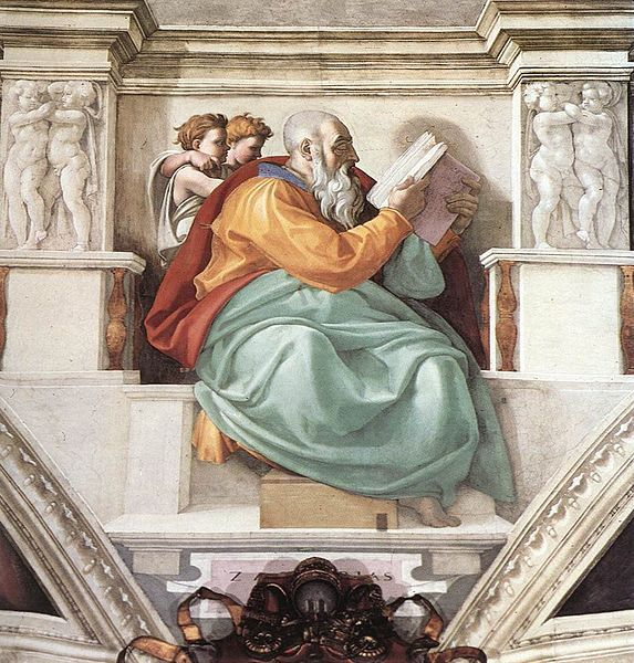 Michelangelo's Zechariah (Sistine Chapel)