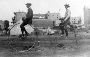 This is a Penny-farthing, in case you weren't sure.
