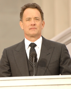 I would love to be my dorky self around Tom Hanks.