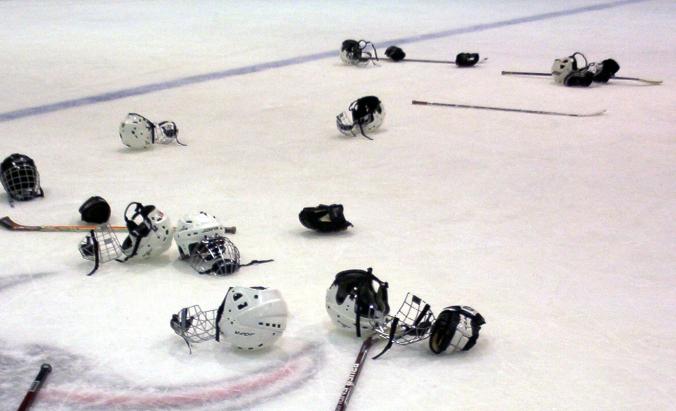 hockey_equipment_on_the_ice