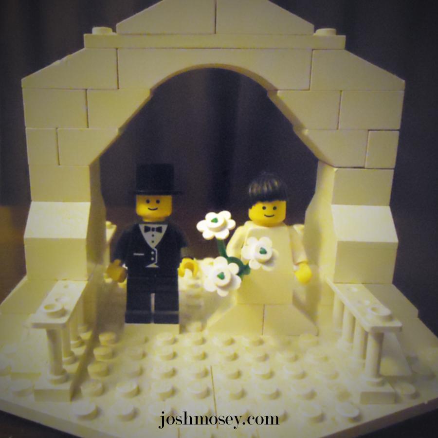 Lego Wedding Altar: I Am Wary Of Elaborate Weddings.
