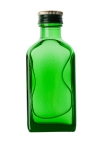 A small green bottle isolated on white